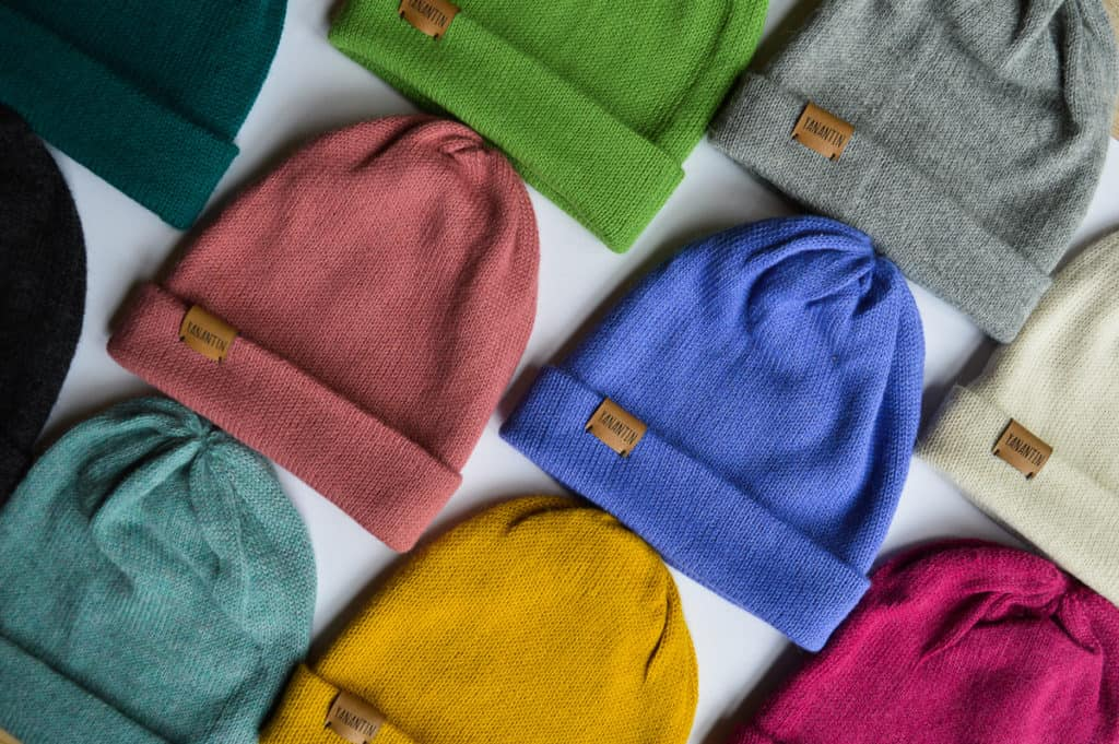Colorful Alpaca Woolen Hats, knitted hats with a border