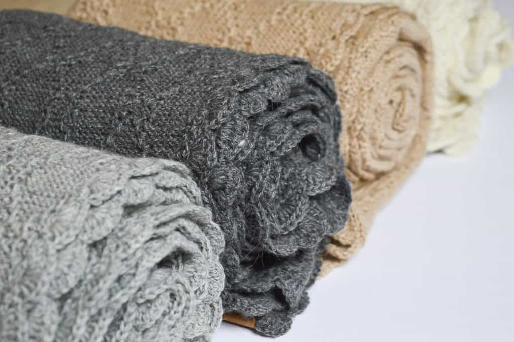 Collection of alpaca woolen blankets that are all undyed!